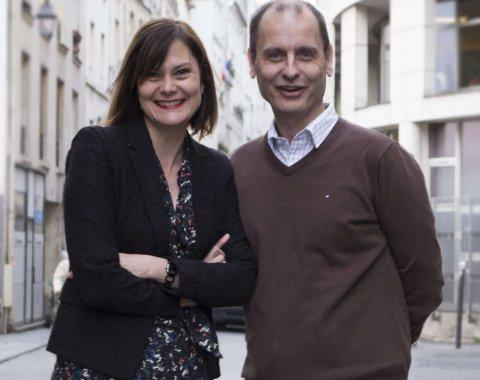 Guillaume Chollet (groupe Loyalty Company) et Julia Drupt (Kiss The Bride)