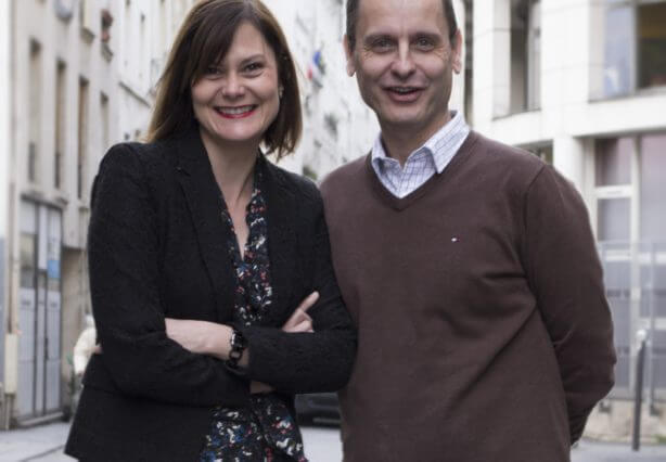 Guillaume Chollet (groupe Loyalty Company) et Julia Drupt (Kiss The Bride)