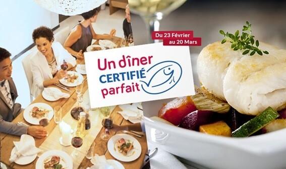 Campagne MSC : un dîner certifié parfait
