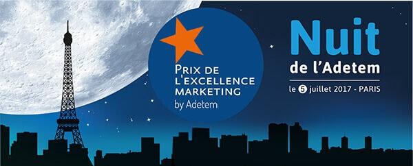 La Nuit de l'Adetem aura lieu le 5 juillet 2017 à Paris pour remettre le prix de l'excellence Marketing