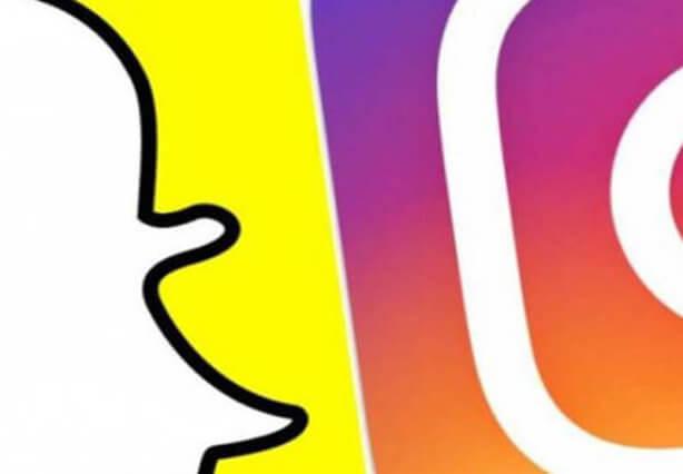 Snapchat et instagram