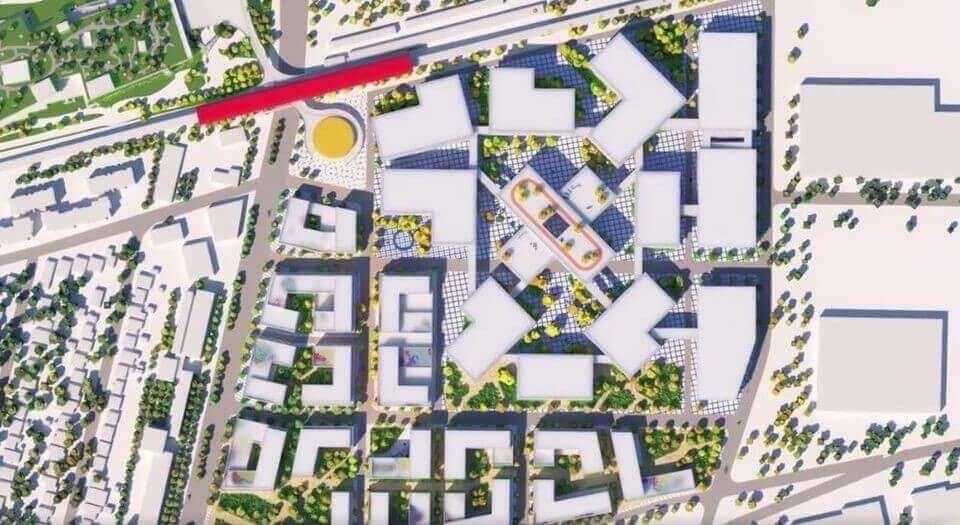Plan de la ville de Facebook