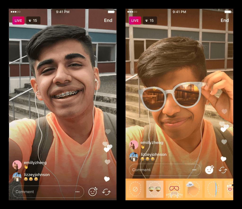 Instagram stories et filtres