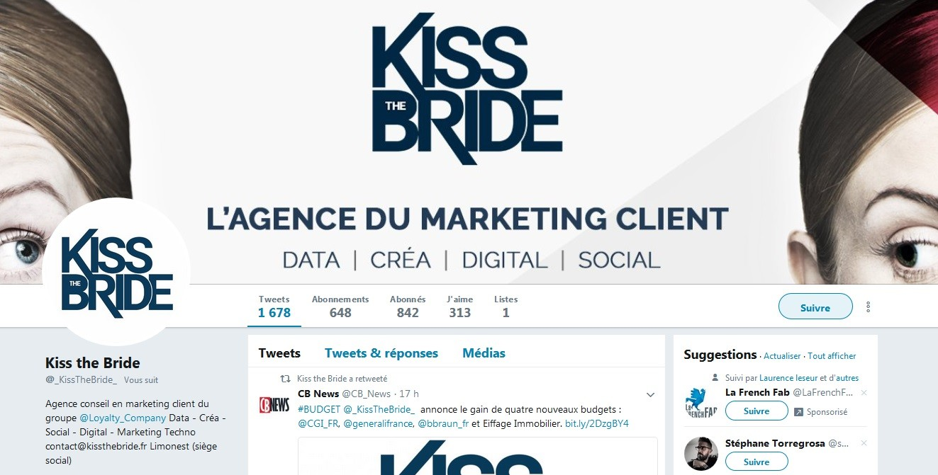 Abonnement Twitter Kiss RGPD