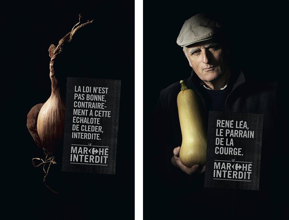Campagne de Carrefour Le marché interdit