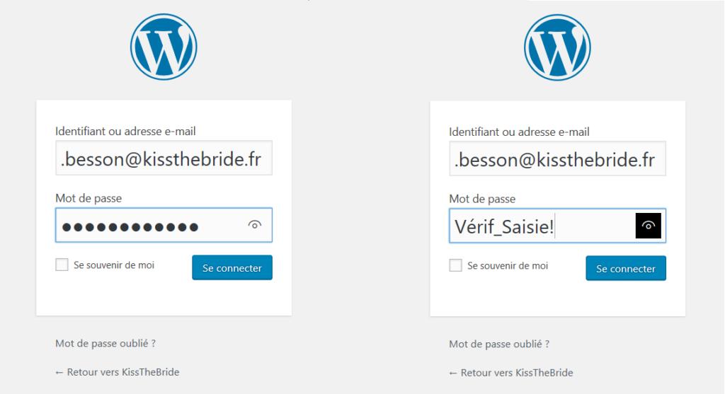 Les mots de passe sur WordPress